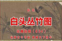 (834)宋 佚名 白头丛竹图 故宫博物院藏