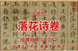 (837)明 文徵明 落花诗卷 苏州博物馆藏