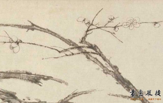 清_弘仁_松梅图  故宫博物院藏_副本