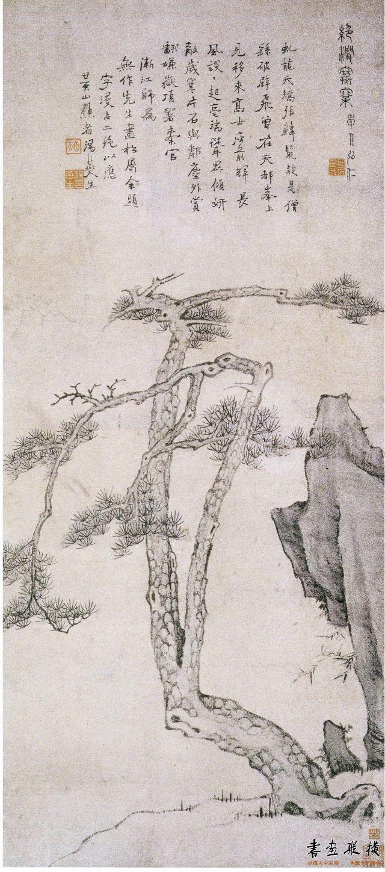 绝涧寒窠图  纸本 116.6cm × 51.2cm 上海博物馆藏