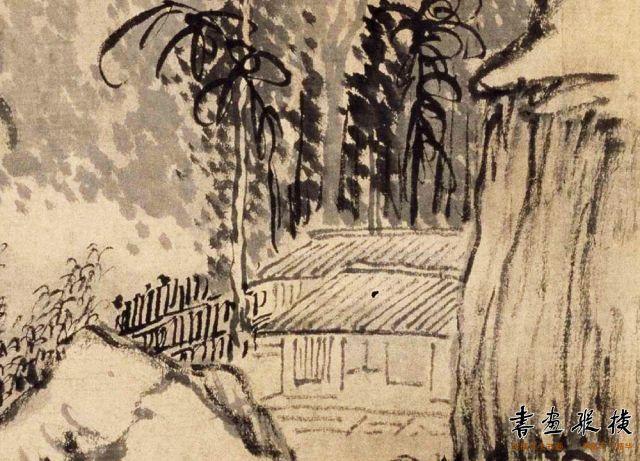 清 高翔 山水图轴 纸本 墨笔 纵79.7厘米 横41厘米 故宫博物院藏 局部