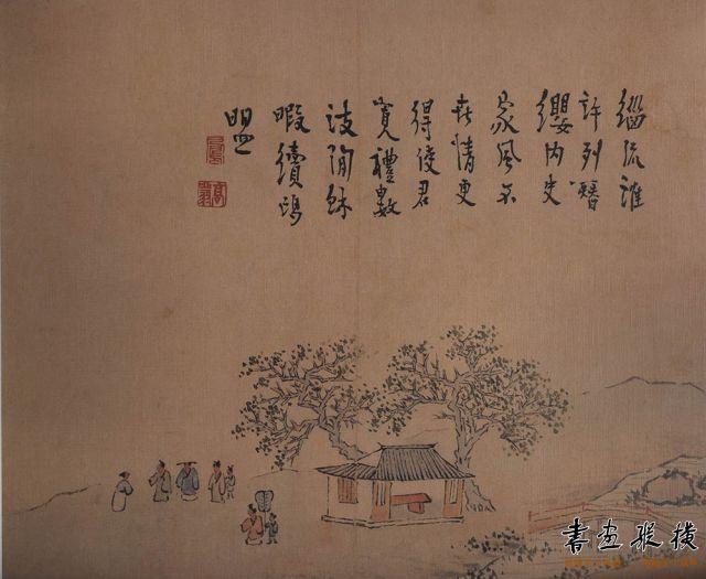 清 高翔 扬州即景图册 纸本设色 每开纵23.8厘米 横25.5厘米 故宫博物院藏 001