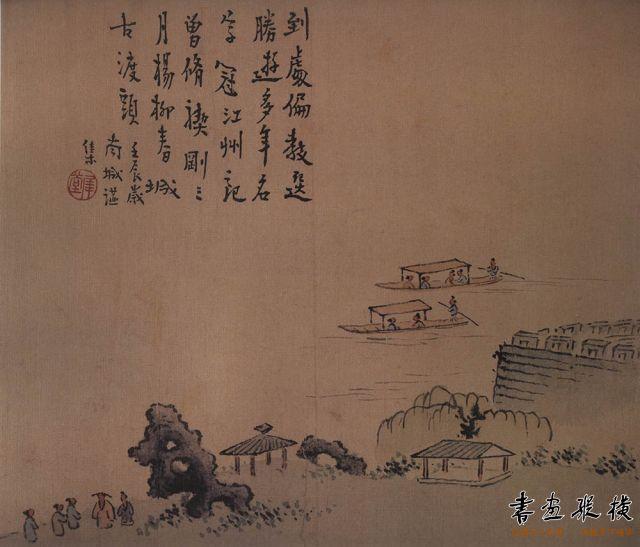 清 高翔 扬州即景图册 纸本设色 每开纵23.8厘米 横25.5厘米 故宫博物院藏 002