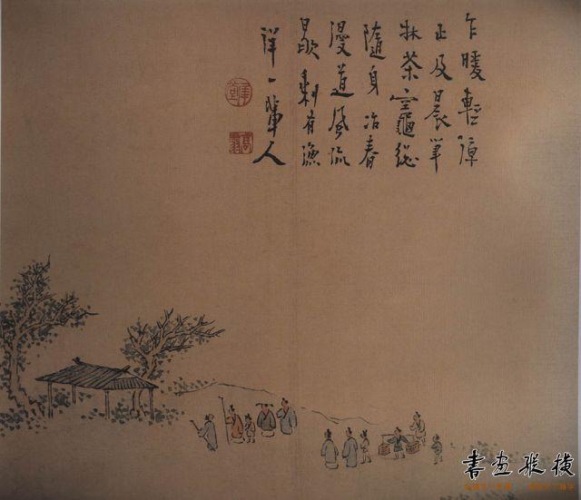 清 高翔 扬州即景图册 纸本设色 每开纵23.8厘米 横25.5厘米 故宫博物院藏 005