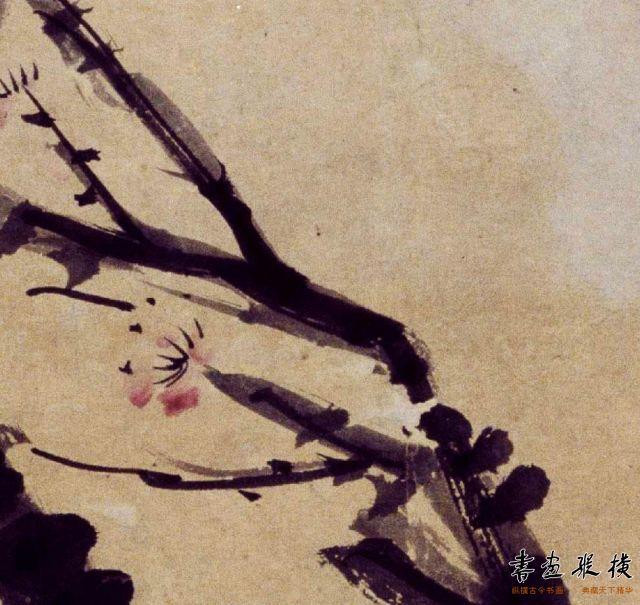 清 高翔 梅花图轴 纸本 设色 纵88.8厘米 横44.7厘米 故宫博物院藏 局部