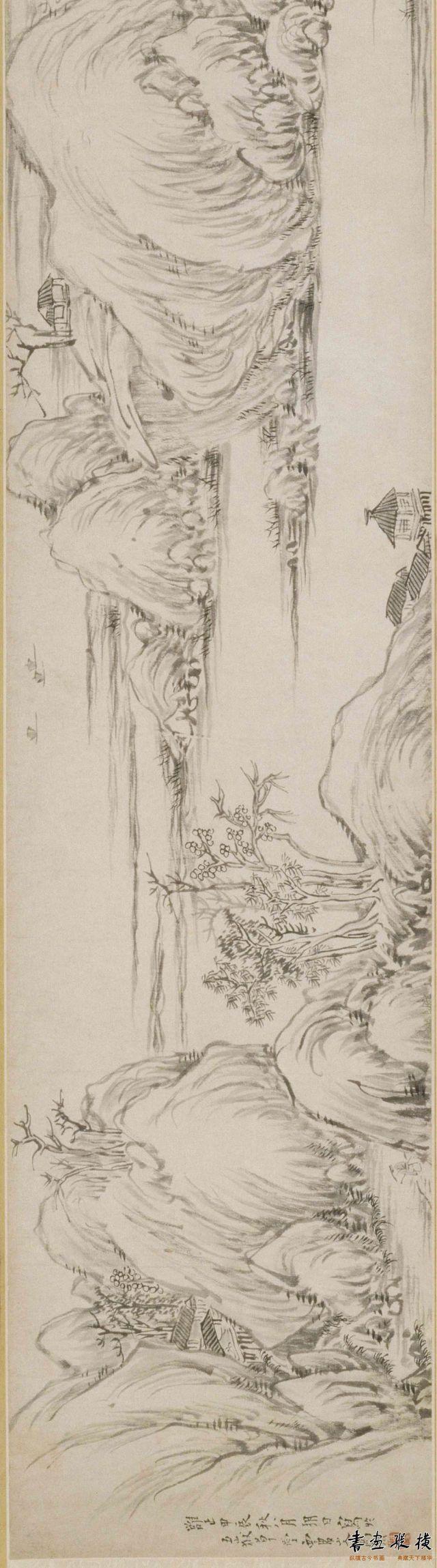 清 高翔 山水图卷 纸本 墨笔 纵26厘米 横151.3厘米 故宫博物院藏
