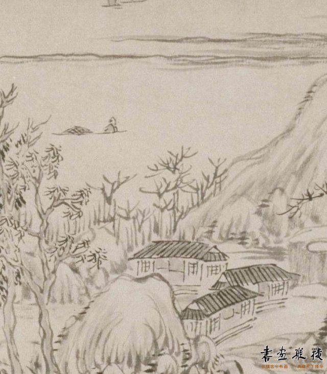 清 高翔 山水图卷 纸本 墨笔 纵26厘米 横151.3厘米 故宫博物院藏 局部
