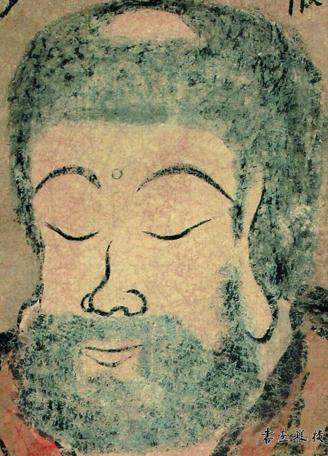 清 金农 佛像 纵133厘米 横62.5厘米 天津博物馆藏 局部