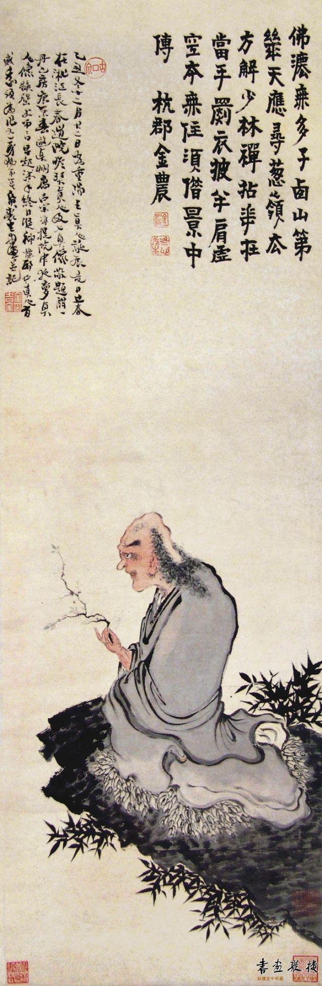 清 金农 达摩老祖图