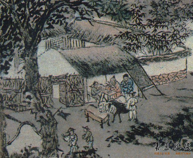 1  罗聘《剑阁图》立轴,为纸本设色。纵100.3厘米,横27.4厘米,现藏故宫博物院。 (2)