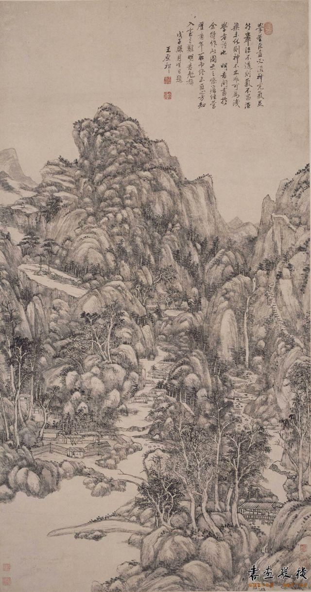清 王原祁 神完气足图 纸本 墨笔 纵137.2厘米 横71.8厘米 故宫博物院藏