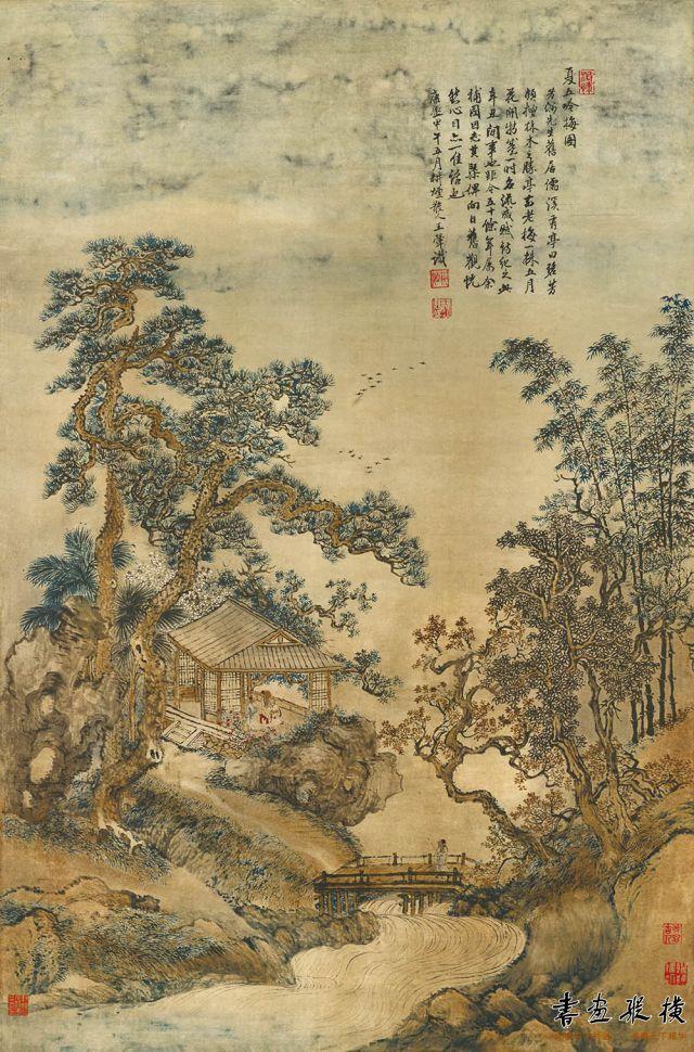 清 王翚 夏五吟梅 故宫博物院藏