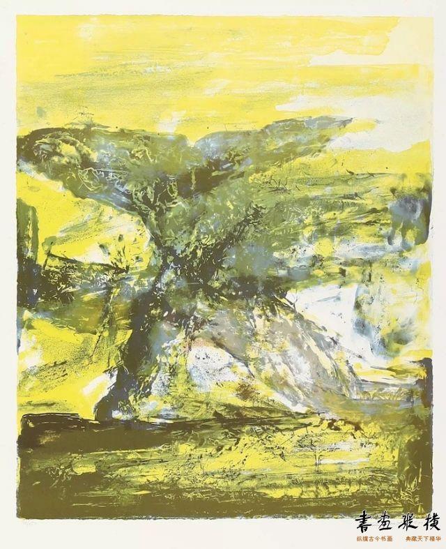 西泠网拍八月夏季大拍 赵无极(1921-2013)无题纸本石版画