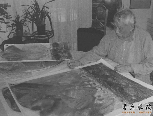 西泠网拍八月夏季大拍 朱德群(1920-2014)金秋纸本石版画