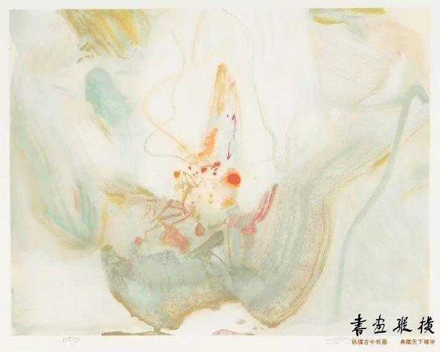 西泠网拍八月夏季大拍 朱德群(1920-2014)明媚纸本石版画