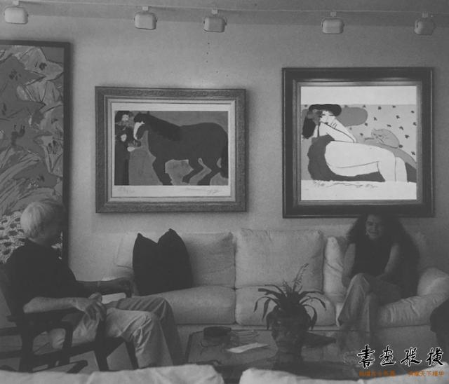 西泠网拍八月夏季大拍 丁雄泉(1920-2010)蓝色的马纸本石版画