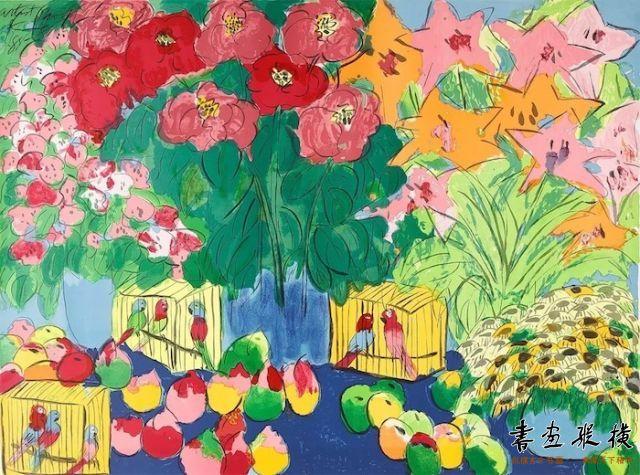 西泠网拍八月夏季大拍 丁雄泉(1920-2010)生生不息纸本石版画