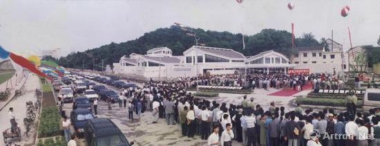 1998年5月9日,钱君匋艺术研究馆开馆仪式盛况