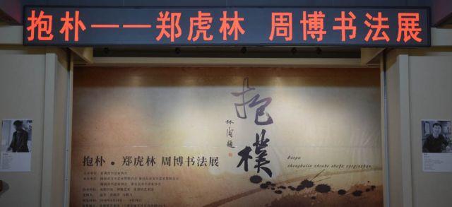"""0抱朴""""郑虎林、周博书法展在甘肃艺术展隆重开幕 (2)"""