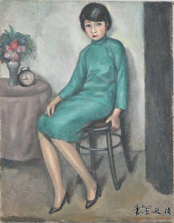 关良(1900-1986)  少女