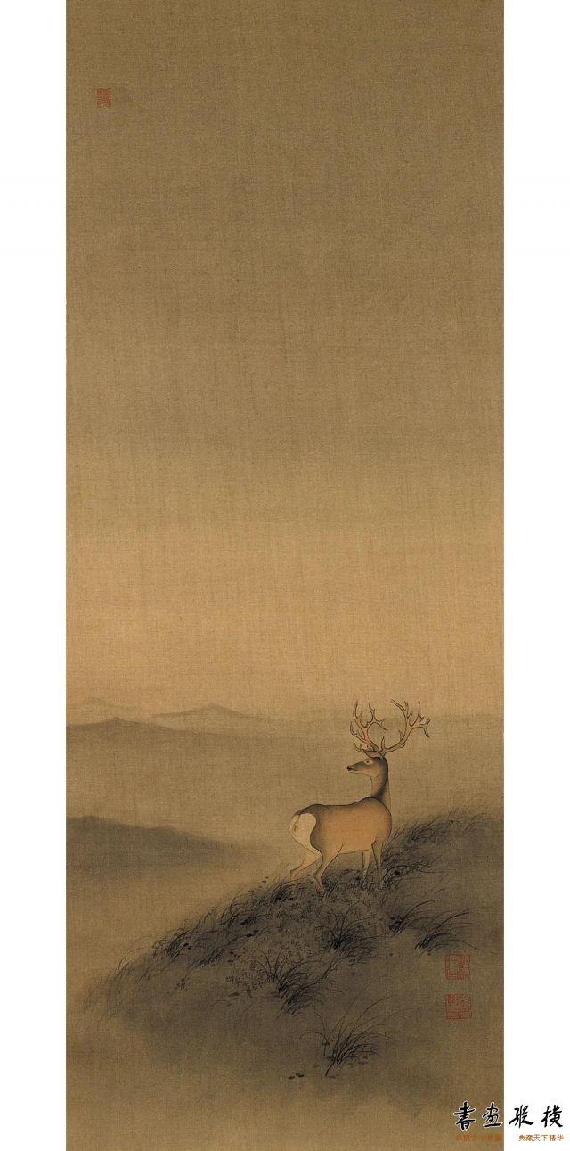杨梵望山73cm×27cm绢本设色2020年
