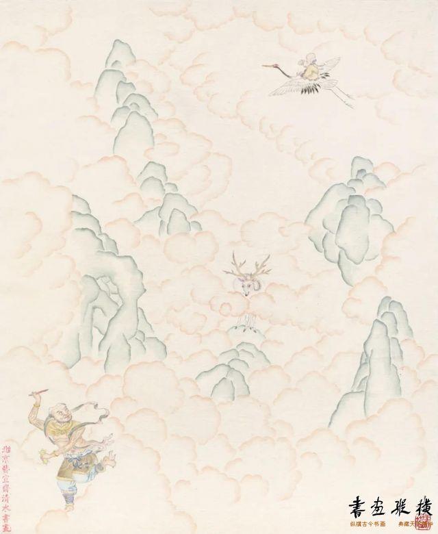 王可苡双星赐福33cm×28cm纸本设色2020年