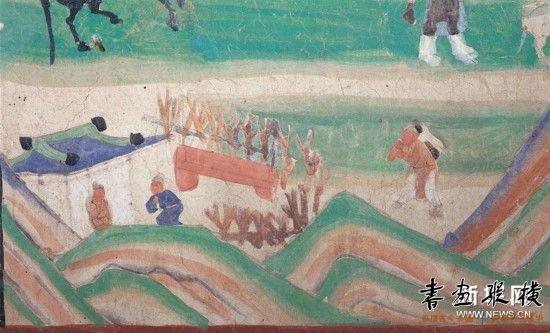 """(文化视点·听文物讲故事·图文互动)(3)梁思成林徽因以敦煌壁画""""导航寻宝"""""""