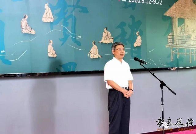 绍兴市政协党组副书记、副主席、绍兴文史馆馆长冯建荣致辞并宣布展览开幕