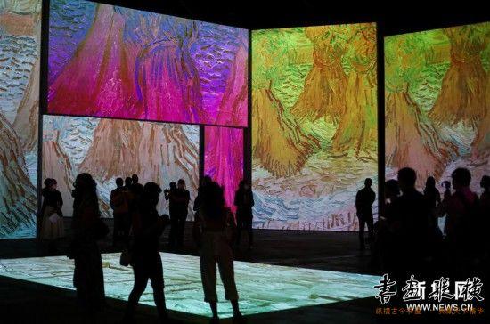 (国际)(1)梵高沉浸式画展即将在悉尼开幕